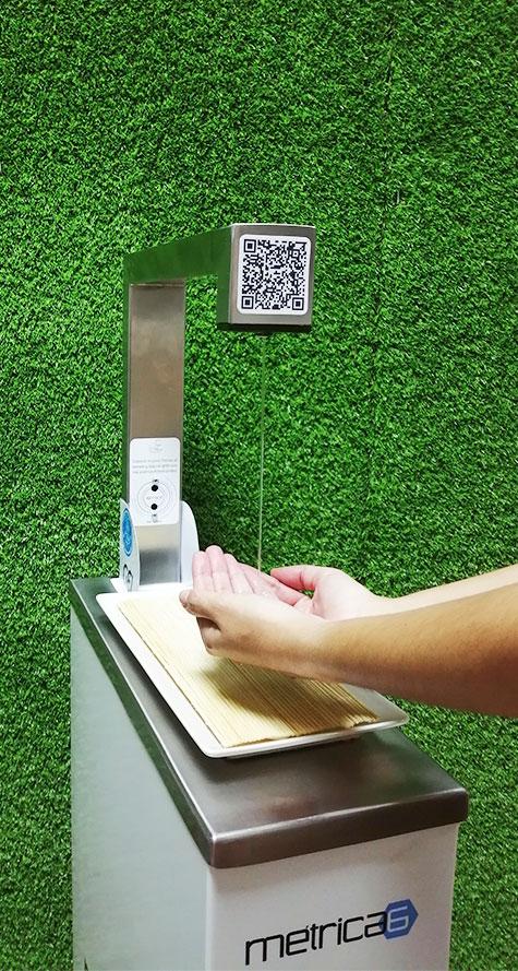 Dispensador automático de gel hidroalcohólico